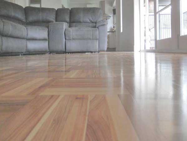 A parquetry feature floor in Bridgeman Downs QLD.