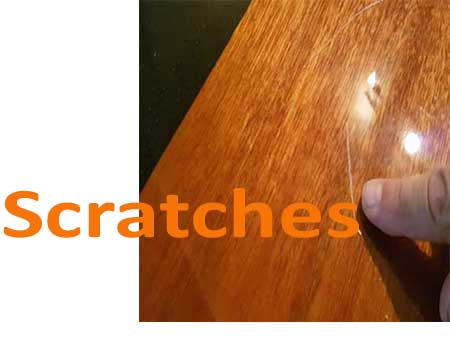 Repairing scratches polished floors