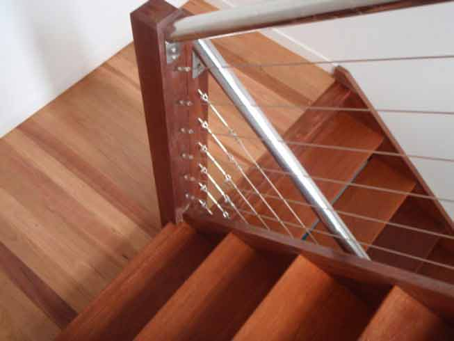 Timber floor and stairs