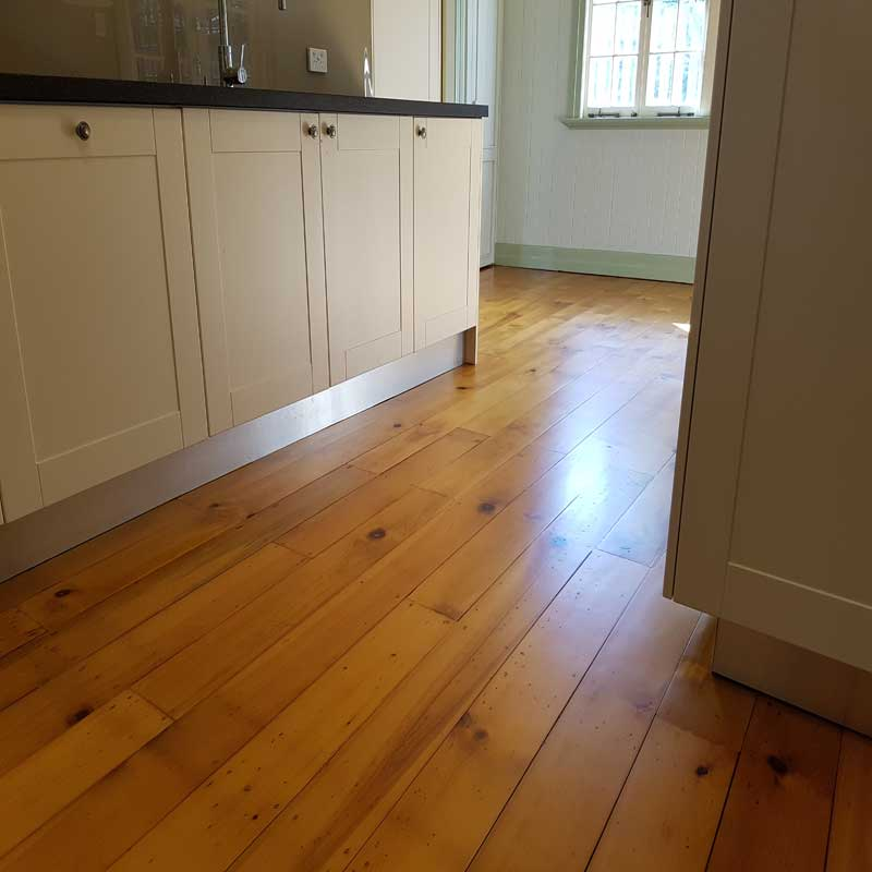 floor sanding in kitchen