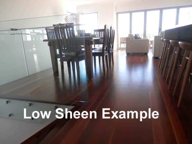 Polished timber flooring in low sheen