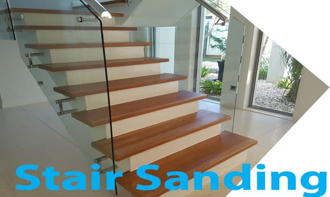 Polished stairs with white uprights now popular in Brisbane