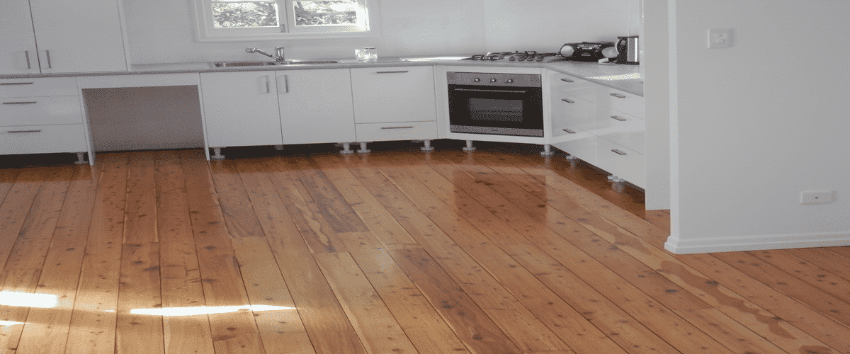 Dayboro floor sanding example on kitchen floor