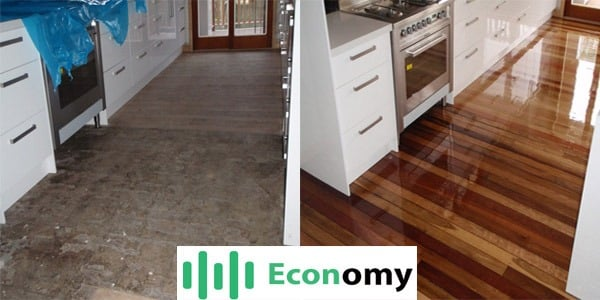 Timber floors sanded and polished