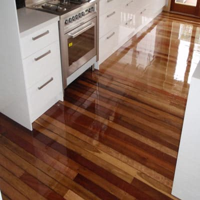 An old polished timber floor