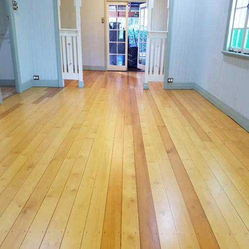 A polished timber floor