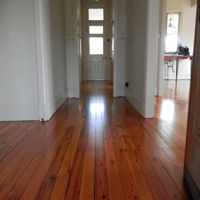 polished floorboards in hallway