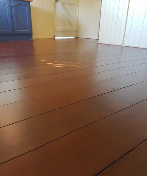 Stained floor completed